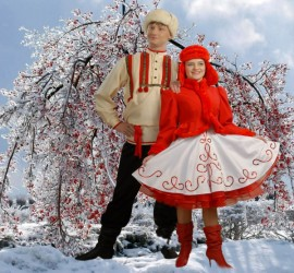 Костюм Кадриль  Зимняя (Сибирский Хор)