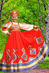 Костюм Сарафан Красный