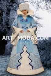 Костюм Снегурочка  голубая елочка