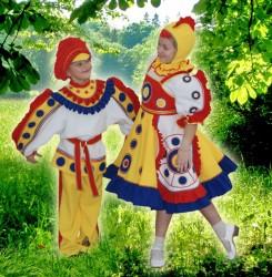 Костюм Дымковская игрушка Петушок и курочка