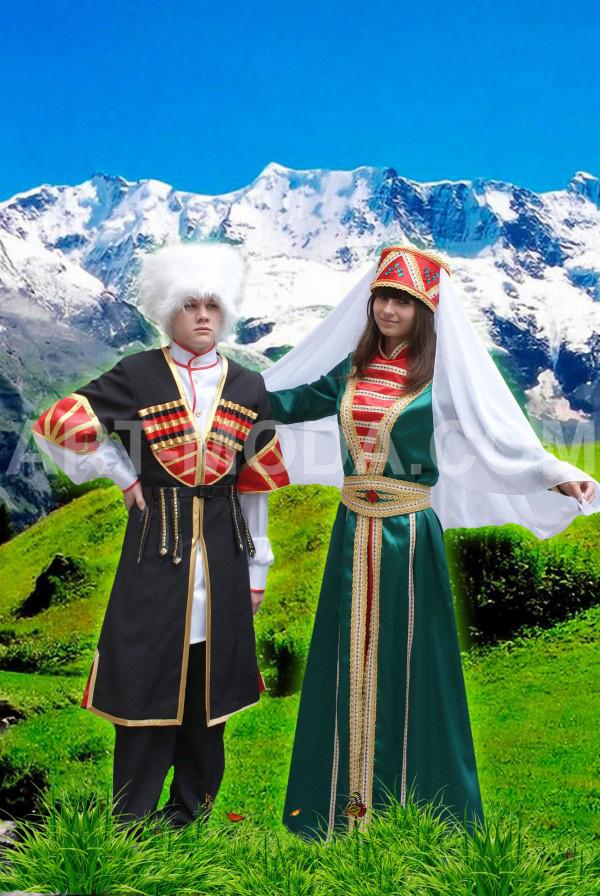 даргинский национальный костюм фото мужской и женский