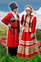 Костюм Казачий красный женский  и Мужской