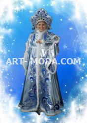 Костюм Снегурочка голубой узор