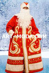 Костюм Дед Мороз боярский красный (От 18000 рублей)